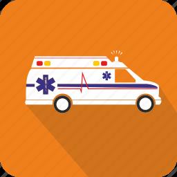 ambulance, doctor, hospital, medical icon