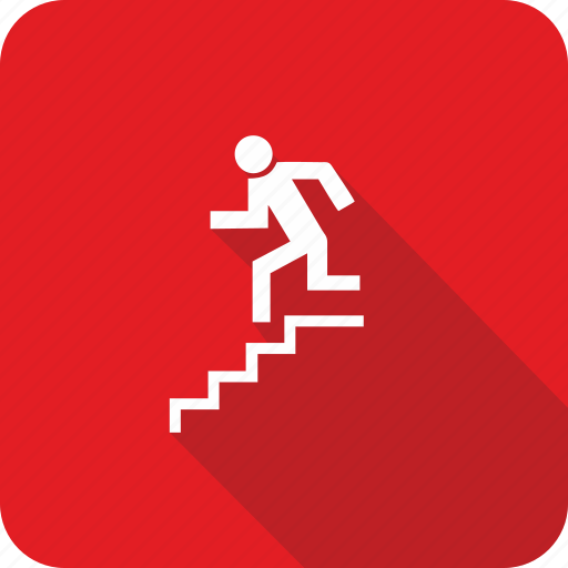 direction, down, left, stairs icon