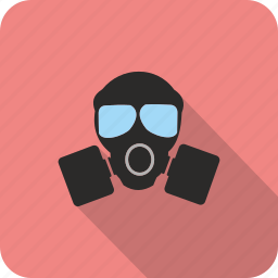 caution, gasmask, protection, safe, safety icon