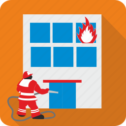 burn, danger, fire, fireman, flame icon