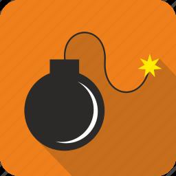 alert, bomb, danger, explosive icon