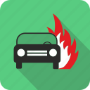 auto, burn, car, fire, flame, vehicle icon