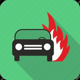 auto, burn, car, fire, flame, vehicle icon