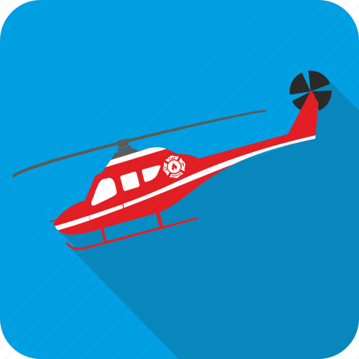 doctor, emergency, helicopter, medical icon