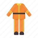 clothes, fashion, fireman, flame, protection, suit, uniform icon