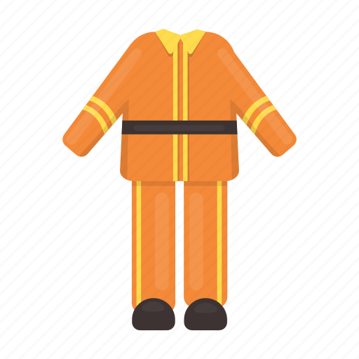 Clothes, fashion, fireman, flame, protection, suit, uniform icon - Download on Iconfinder