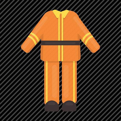 clothes, fashion, fireman, flame, protection, suit, uniform icon