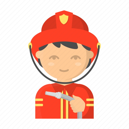 departmentfireman, fire, man, person, profession, uniform icon