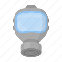 depagas, equipment, fire, gas, mask, protection, smokertment icon