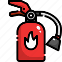 emergency, extinguisher, fire, protect, safety, secure