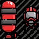 gas, oxygen, pressure, tank icon