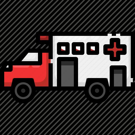ambulance, automobile, emergency, medical, transport, vehicle icon