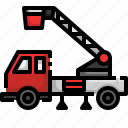 automobile, cable, car, emergency, security, truck, vehicle icon