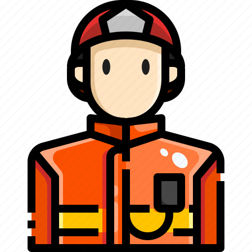 Avatar, firefighter, fireman, job, person, security icon - Download on Iconfinder