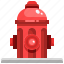 fire, firefighter, hydrant, hydration, security, water icon