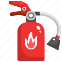 emergency, extinguisher, fire, protect, safety, secure icon