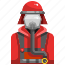 avatar, firefighter, firefighting, job, profession icon