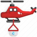 aircraft, chopter, copter, emergency, fire, helicopter, transportation