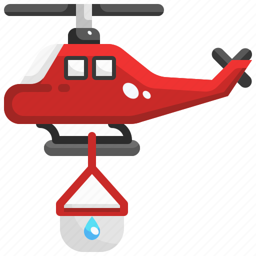 aircraft, chopter, copter, emergency, fire, helicopter, transportation icon