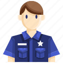 avatar, guard, guardian, man, officer, policeman, policemen icon