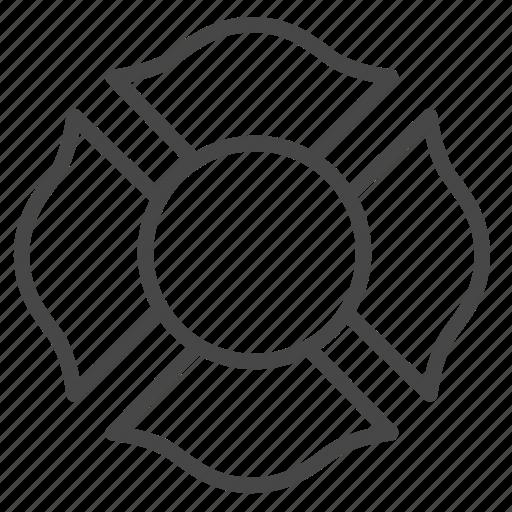 emblem, emergency, firefighter, fireman, honor icon
