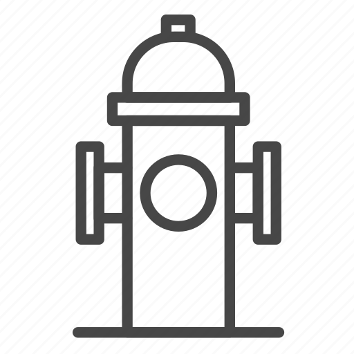 emergency, fire, fire hydrant, fireplug, water supply icon