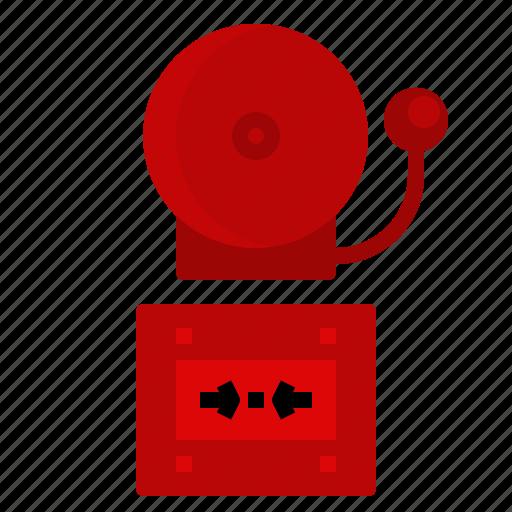 alarm, alert, bell, burning, danger, fire icon