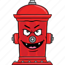 fire, smiley, hydrant, emoji, cartoon