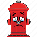 cartoon, emoji, fire, hydrant, smiley icon