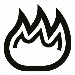 blaze, burn, danger, fire, flame, hot, ignition icon