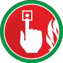 alarm, alert, fire, problem, warning icon