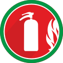 burn, damage, danger, extinguisher, fire, flame, problem icon