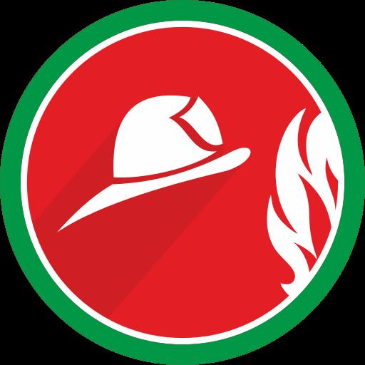 burn, fire, flame, helmet icon