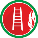 burn, fire, flame, ladder, stairs icon