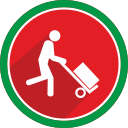 fire, transport, transportation, trolley icon