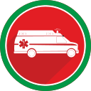 ambulance, doctor, emergency, fire, health, hospital, medicine icon