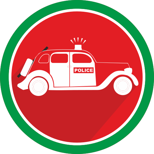 automobile, car, police, vehicle icon