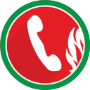 call, communication, fire, phone, talk, telephone icon
