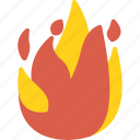 fire, firefight, service, sign icon
