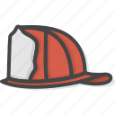 filled, firefight, helmet, outline, protection, service icon