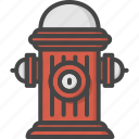 filled, firefight, hydrant, outline, service, water icon
