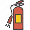 extinguisher, filled, firefight, outline, service icon