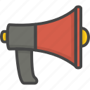 filled, firefight, megaphone, outline, service, speaker icon