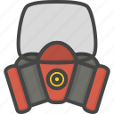 equipment, filled, firefight, mask, outline, protection, service icon