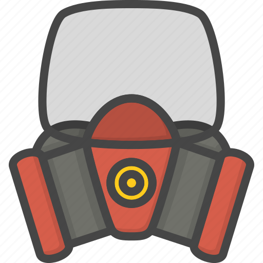 Equipment, filled, firefight, mask, outline, protection, service icon - Download on Iconfinder