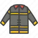 filled, firefight, outline, protection, service, suit