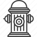 firefight, hydrant, line, outline, service, water icon