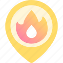 fire, location, map, place, placeholder, point, security