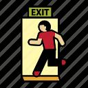 escape, exit, firefighter icon