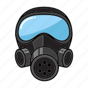 firefighter, gas mask, helmet icon